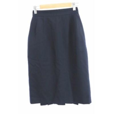 【中古】COMME CA DU MODE スカート 台形 ロング ミモレ ウール ジップフライ 紺 ネイビー /MO2 レディース