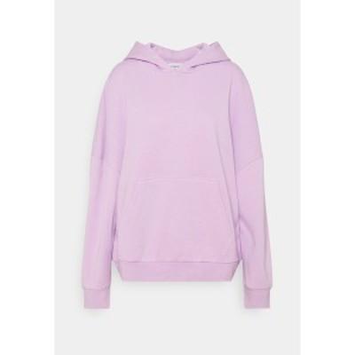 エブンアンドオッド レディース パーカー・スウェットシャツ アウター LONG OVERSIZED HOODIE - Hoodie - lilac lilac
