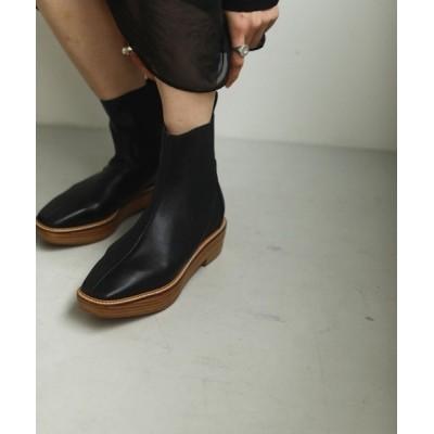 """CANAL JEAN / TODAYFUL(トゥデイフル) """"Platform Leather Boots""""プラットフォームレザーブーツ/12021009 WOMEN シューズ > ブーツ"""