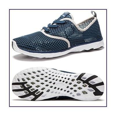NeedBo Men's Aqua Water Shoes Lightweight Quick-Dry Walking Shoes (9 D(M) US, DarkBlue)【並行輸入品】