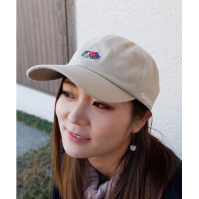 JUGLANS / FRUIT OF THE LOOM LOGO EMB LOW CAP WOMEN 帽子 > キャップ