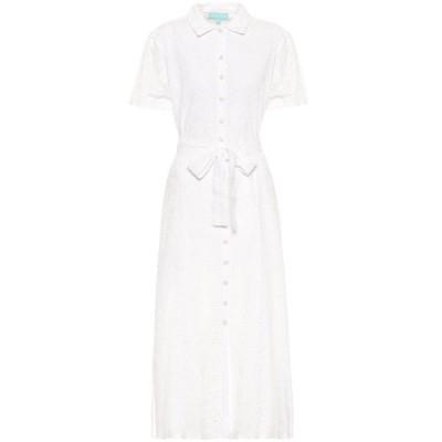 メリッサ オダバッシュ Melissa Odabash レディース ワンピース シャツワンピース ワンピース・ドレス Vanessa cotton midi shirt dress White