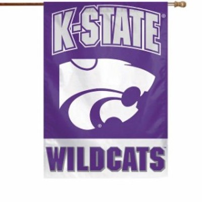 WinCraft ウィンクラフト スポーツ用品  WinCraft Kansas State Wildcats 28 x 40 Full Name Single-Sided Vertical Banner
