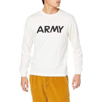[アルファインダストリーズ] Tシャツ 長袖 ARMY プリントTシャツ TC1430-5 ホワイト M