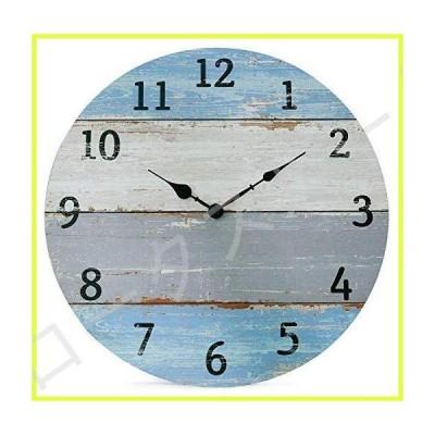 NIKKY HOME サイレント ノイズレス グラデーション スプライス 壁時計 ヴィンテージ アンティーク調 素朴 1