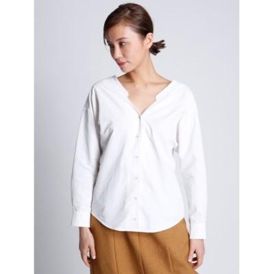 【セルフォード】 バックカシュクールシャツ レディース OWHT 36 CELFORD