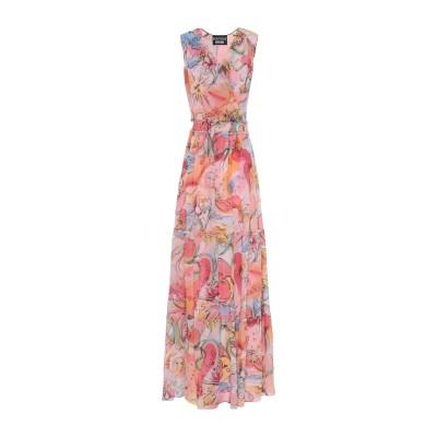 BOUTIQUE MOSCHINO ロングワンピース&ドレス ピンク 40 シルク 100% ロングワンピース&ドレス