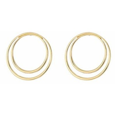 フレンチ コネクション レディースアクセサリ イヤリング ピアス Double Frontal Hoop Earrings