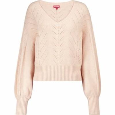 スタウド Staud レディース ニット・セーター ポインテール トップス Alberta pointelle-knit sweater Petal