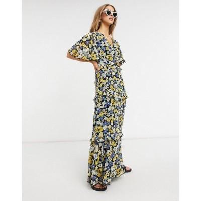 ウエアハウス レディース ワンピース トップス Warehouse daisy tiered maxi dress in multi Multi
