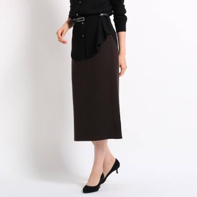 INDIVI V.A.I.(インディウ゛ィ)/[L]ウールミモレナロースカート