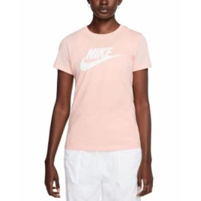 ナイキ レディース Tシャツ トップス Women's Sportswear Cotton Logo T-Shirt Washed Coral