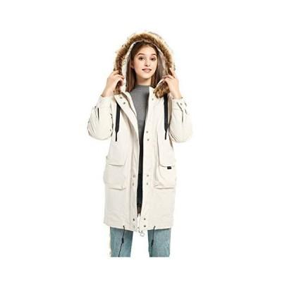 ilishop Women's Thickened Long Down Jacket Hooded Parka Winter Puffer Coat