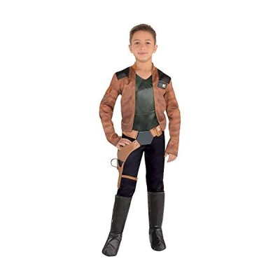 Costumes USA Solo: A Star Wars Story Han Solo Costume for Boys, Size Large, Includes a Jumpsuit, a Belt, and Boot Covers
