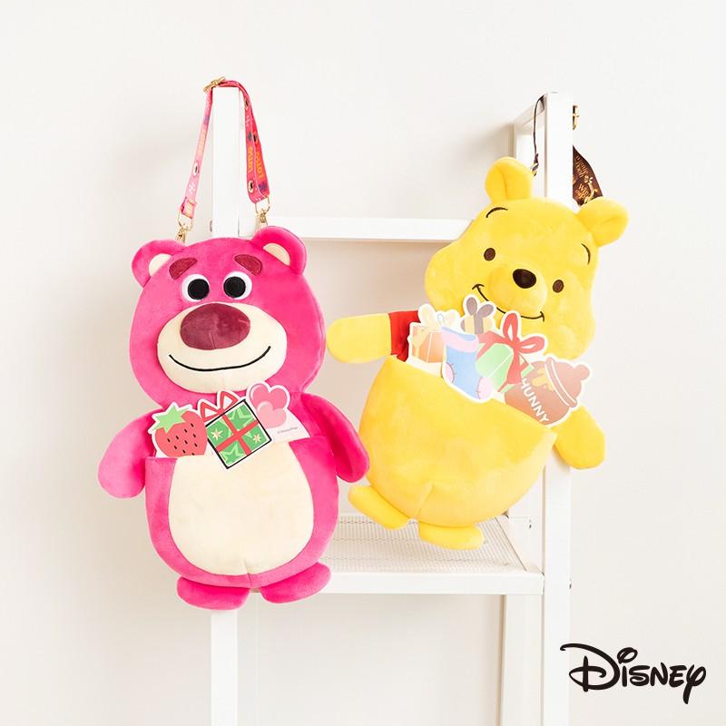 迪士尼 文具旗艦店|造型磁鐵置物袋 熊抱哥 史迪奇 奇奇蒂蒂 維尼 文具 收納袋 辦公室用品 絨毛 置物袋 BF620