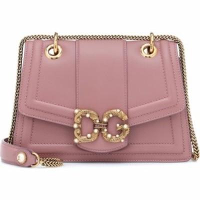ドルチェandガッバーナ Dolce and Gabbana レディース ショルダーバッグ バッグ dg amore leather shoulder bag Powder Pink