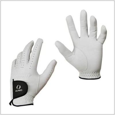イグニオ(IGNIO) メンズ ゴルフグローブ天然羊革 (IG-1G1026GG) 左手 ホワイト 24