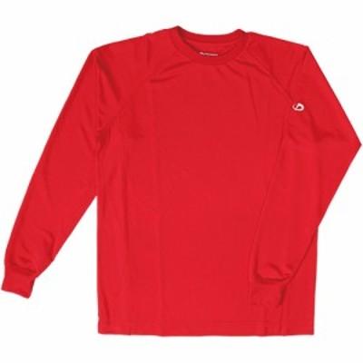 ファイテン(phiten) RAKUシャツSPORTS (吸汗速乾) 長袖 レッド 3110JF90020 【メンズ・レディース Tシャツ トレーニングウェア ドラ