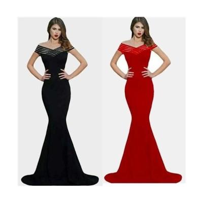 XLサイズ  Sexyな胸元魅せデザインロングドレス