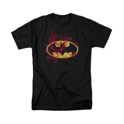 Tシャツ DCコミックス Batman Logo With The Joker Graffiti DC Licensed Adult T Shirt