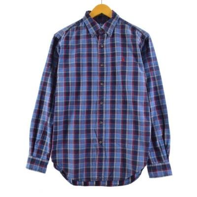 ラルフローレン Ralph Lauren 長袖 ボタンダウンチェックシャツ メンズS /eaa173957