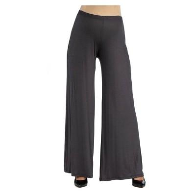 24セブンコンフォート カジュアルパンツ ボトムス レディース Women's Comfortable Solid Color Maternity Palazzo Pants Dark Gray
