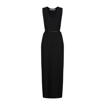イザベル・ベネナート ISABEL BENENATO ロングワンピース&ドレス ブラック 42 コットン 100% ロングワンピース&ドレス