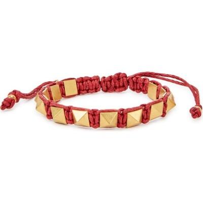 ヴァレンティノ Valentino レディース ブレスレット ジュエリー・アクセサリー Garavani Rockstud dark red rope bracelet Red
