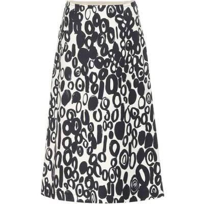 マルニ Marni レディース ひざ丈スカート スカート Printed midi skirt Ivory