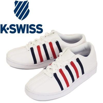 K-SWISS (ケースイス) 05791-130 Classic 88 CVS キャンバス スニーカー White / Ribbon Red / Dress Blue KS029