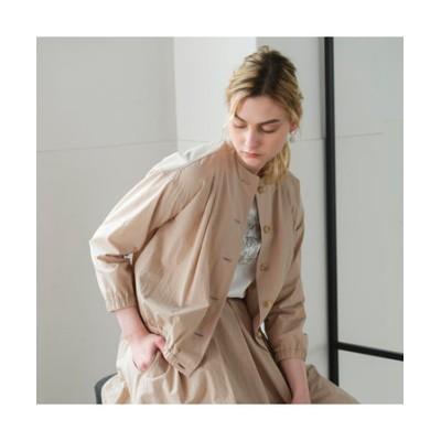 イタリア製素材 ノーカラータックジャケット 【セットアップ可】