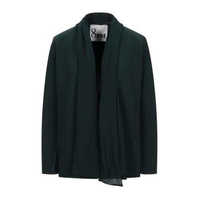 8PM テーラードジャケット ダークグリーン XXS コットン 65% / ポリエステル 35% / レーヨン / ポリウレタン テーラードジャケット