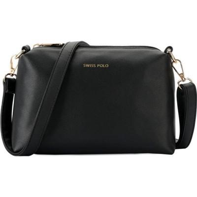スイスポロ Swiss Polo レディース ショルダーバッグ バッグ Ladies PU Sling Bag Black