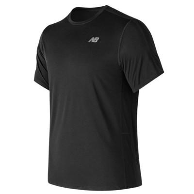 【P5倍+5%OFFクーポン】ニューバランス メンズ Tシャツ アクセレレイト ショートスリーブ AMT73061 BK