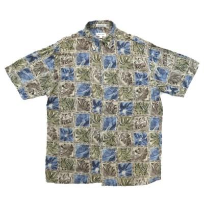 PIERRE  CARDIN ピエールカルダン アロハシャツ ハワイアンシャツ 半袖 サイズ表記:M