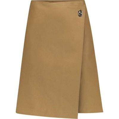 ボッテガ ヴェネタ Bottega Veneta レディース ミニスカート スカート Mid-rise wrap cotton miniskirt Caramel