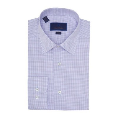 デイビッドドナヒュー メンズ シャツ トップス Slim Fit Dress Shirt SKY/BERRY
