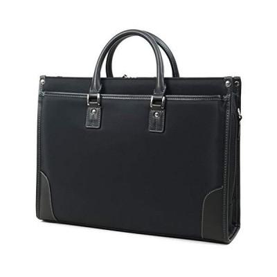 ファクタスオム ビジネスバッグ メンズ レディース B4 A4対応 軽量 撥水 ブラック