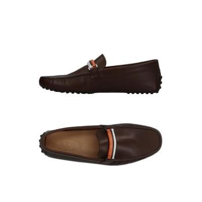 TOD'S トッズ モカシン ファッション  メンズファッション  メンズシューズ、紳士靴  モカシン ダークブラウン