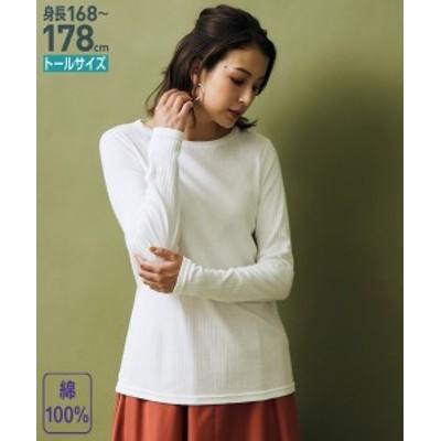 Tシャツ カットソー トールサイズ レディース 綿100% 針抜き 重ねボートネック トップス オフホワイト/黒/黒×オフホワイトボーダー 4L/