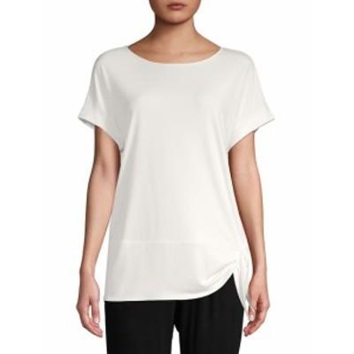カルバンクライン レディース トップス シャツ Short Sleeve Knot T-Shirt