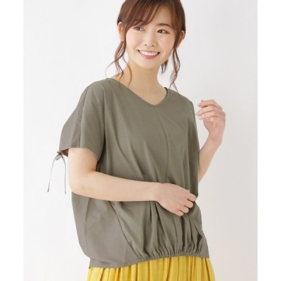 tシャツ Tシャツ 【M-L】バックシャン切り替えVネックカットソー