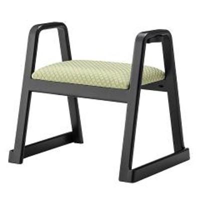 スツール 座面高38cm ハンドル 持ち手 スタッキング 積み重ね お座敷 椅子 腰掛 法事 木製 グリーン