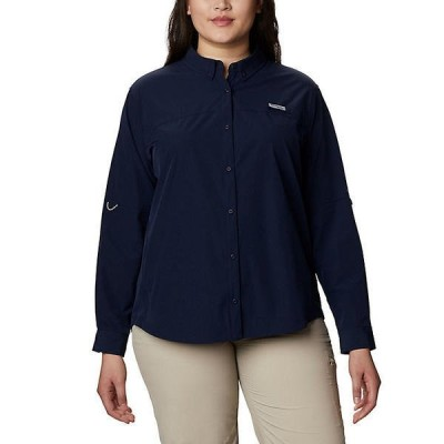 (取寄)コロンビア レディース コーラル ポイント ロングスリーブ ウーブン シャツ Columbia Women's Coral Point LS Woven Shirt Collegiate Navy 送料無料