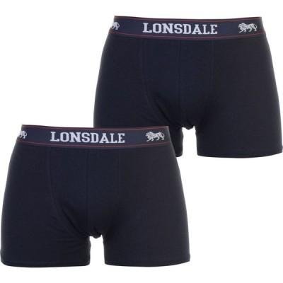 ロンズデール Lonsdale メンズ ボクサーパンツ 2点セット インナー・下着 2 Pack Trunks Navy