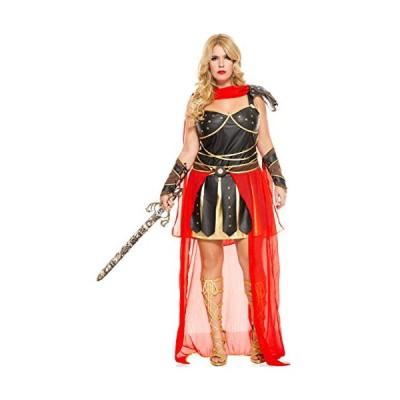 ミュージック レッグ レディース Plus-サイズ ダーク Greek Warrior Plus サイズ, ブラウン/Red, 3X(海外取寄せ品)