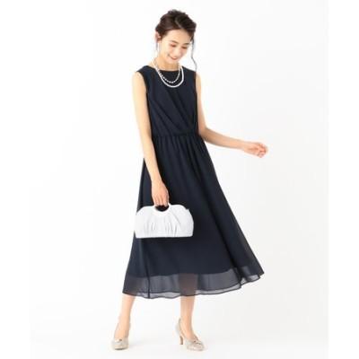 【洗える】アシメタックミディ ドレス
