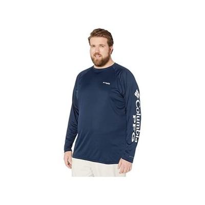 コロンビア Big & Tall Terminal Tackle Lu002FS Shirt メンズ シャツ トップス Collegiate Navy/White Logo