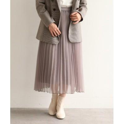 AG by aquagirl / オーガンジーランダムプリーツスカート【WEB限定サイズ】 WOMEN スカート > スカート