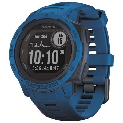 ガーミン スマートウォッチ(Tidal Blue)Instinct Dual Power Tidal Blue 010-02293-35 返品種別A